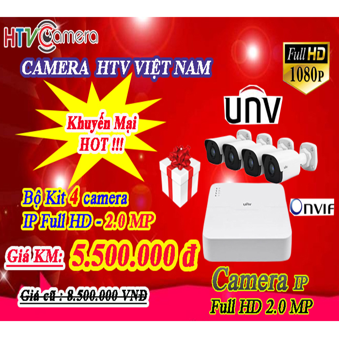 Bộ KIT camera UNIVIEW full HD 2.0 Megapixel