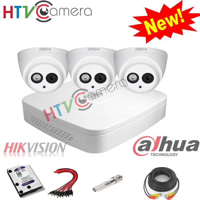 Bộ 3 camera HD 1.0 Dahua
