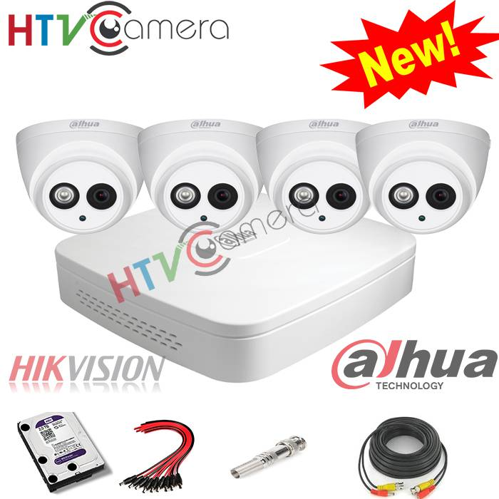 Bộ 4 camera HD 1.0 Dahua
